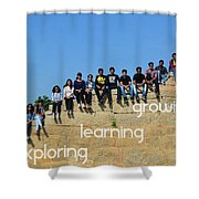 Educational Travel With Happymiles Shower Curtain