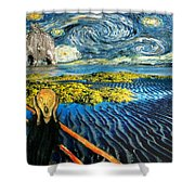 Edvard Meets Vincent Posters Shower Curtain