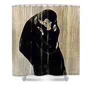 Edvard Munch: The Kiss Shower Curtain