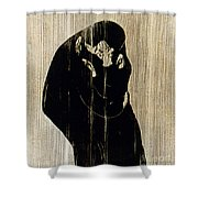 Edvard Munch: The Kiss Shower Curtain