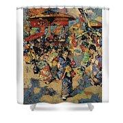 Edward Atkinson Hornel 1864 - 1933 Carnival Day, Japan Shower Curtain