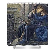 Edward Burne-jones, Love Among The Ruins, 1894 Shower Curtain