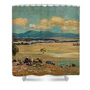 Edward Cairns Officer 1871-1921 Landscape Shower Curtain
