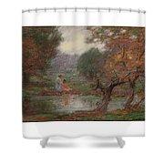 Edward Henry Potthast 1857 - 1927 October Days Shower Curtain