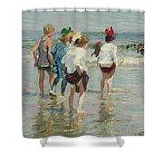 Edward Henry Potthast 1857 - 1927 Summer Day, Brighton Beach Shower Curtain
