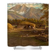 Edward Hill 1843-1923 Adamsons Ranch, Utah Shower Curtain