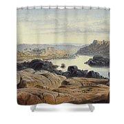 Edward Lear 1812 - 1888 British Philae Shower Curtain