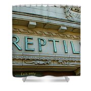 Edwardian Reptile House  Shower Curtain