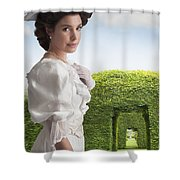 Edwardian Woman In A Summer Garden  Shower Curtain