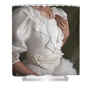 Edwardian Woman Mid Section  Shower Curtain