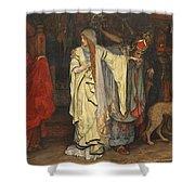 Edwin Austin Abbey 1852-1911 King Lear, Cordelias Farewell Shower Curtain
