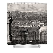 Eerie Cemetery Shower Curtain by James BO  Insogna