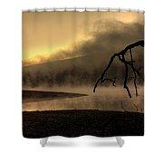 Eerie Dawn Shower Curtain by Lori Deiter
