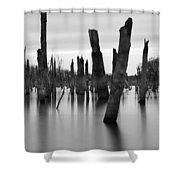 Eerie Lake Shower Curtain