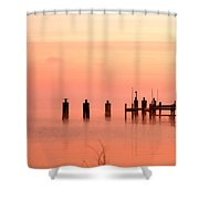 Eery Morn Shower Curtain
