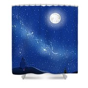 Eeyore A Lonely Night Shower Curtain