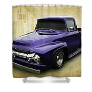 Ef In Purple Shower Curtain