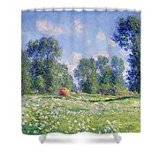Effect Of Spring At Giverny Shower Curtain