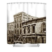 Effects Of The Earthquake, Oct. 21, 1868 Railroad House, Caly St Shower Curtain