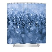 Effervescent Layered Blues Shower Curtain