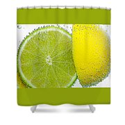 Effervescent Lime And Lemon By Kaye Menner Shower Curtain