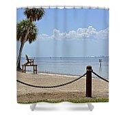 E G Simmons Park Beach Shower Curtain