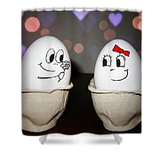 Egg Love Shower Curtain
