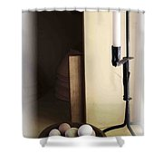 Eggs And Candlestick Shower Curtain