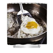Eggs Cooked With Bacon Grease In Pan  Shower Curtain