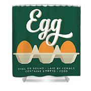 Eggs Defined Shower Curtain