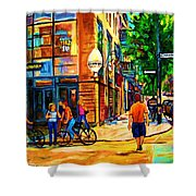 Eggspectation Cafe On Esplanade Shower Curtain