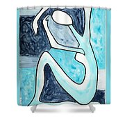 Eggtree Abstract Art Figure Shower Curtain