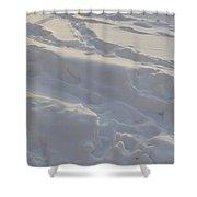 Eggwhite Snow Shower Curtain
