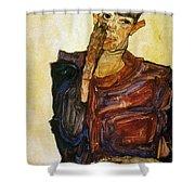 Egon Schiele (1890-1918) Shower Curtain