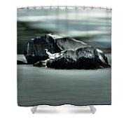 Egret Glow Shower Curtain