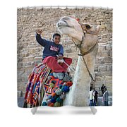 Egypt - Boy With A Camel Shower Curtain