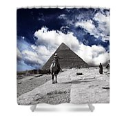Egypt - Clouds Over Pyramid Shower Curtain