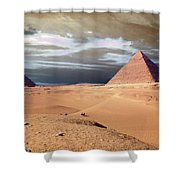 Egypt Eyes Shower Curtain