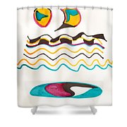 Egyptian Design Shower Curtain