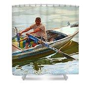 Egyptian Fisherman Shower Curtain