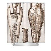Egyptian Mummy, Illustration Shower Curtain