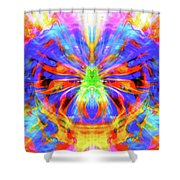Egyptian Scarab Energies Shower Curtain