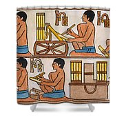 Egyptian Scribes Shower Curtain
