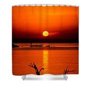 Egyptian Sunrise On Lake Nasser Shower Curtain