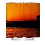 Egyptian Sunset On Lake Nasser Shower Curtain
