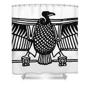 Egyptian Symbol: Vulture Shower Curtain