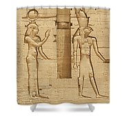 Egyptian Wall Carving Shower Curtain