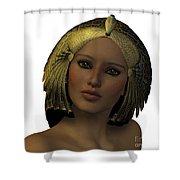 Egyptian Woman Face Shower Curtain