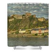 Ehrenbreitstein Fortress On The Rhine Shower Curtain