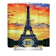 Eifel Tower In Paris Shower Curtain